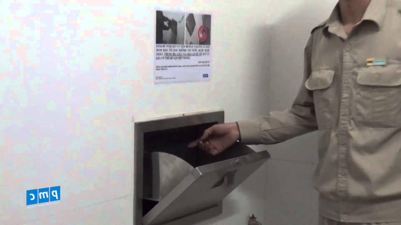 Hệ thống xử lí rác của tòa nhà